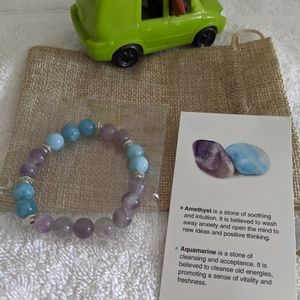 Evolve Mala Cleansing bracelet.